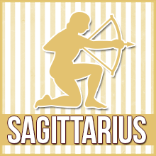 Clip art of the Sagittarius symbol.