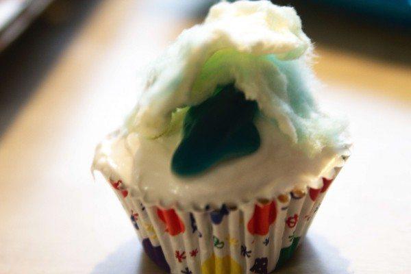 Sharknado Cupcake
