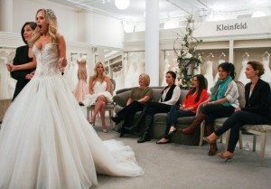 "A still from ""Say Yes to the Dress"" featuring Kristin Chenowith."
