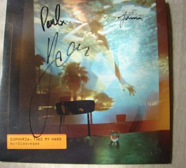 Glasvegas - Euphoria Take My Hand single (autographed)