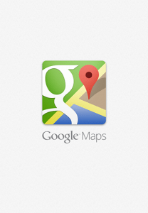 Screencap of Google Maps iTunes app