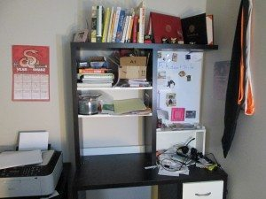 A picture of the author's desk.