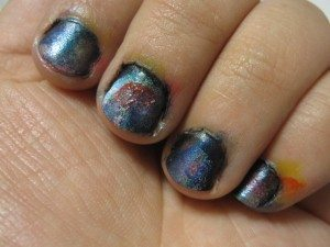Image of painted fingernails