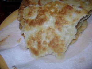 Close up of fried bread