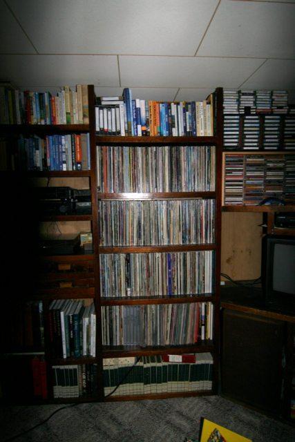 Four Shelves of Records