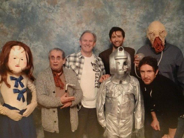 Doctors Seven, Five, Ten and Eight pose for a photo.