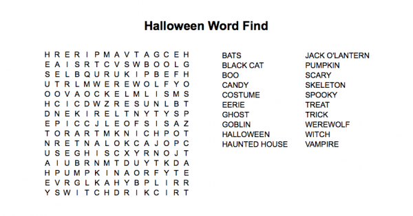 Wednesday Puzzle Halloween Word Find Persephone Magazine