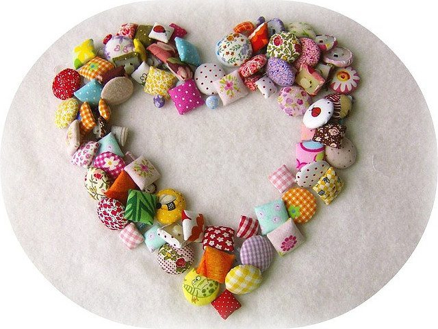 A big heart made of crafty things