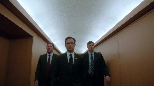 "President Fitzgerald Grant (Tony Goldwyn) confronts Rowan Pope (Joe Morton) in ABC's Scandal episode 3.03 ""Say Hello to My Little Friend"""