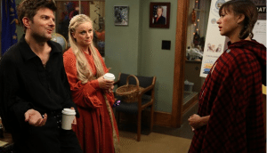 "A screen shot from ""Parks and Recreation."""