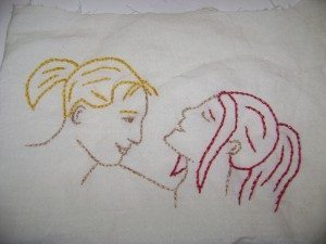 Embroidered people