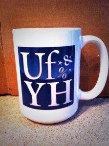 Coffee mug with the UfYH logo
