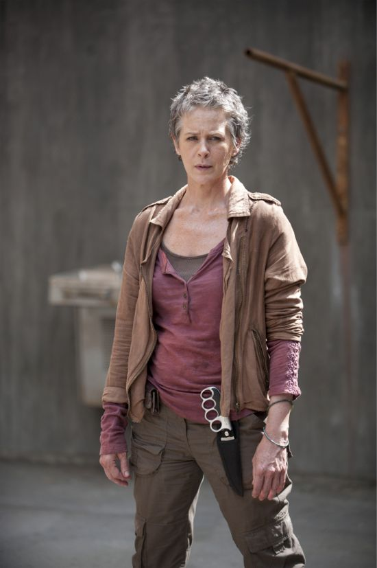 "Carol Peletier (Melissa McBride) stands ready for combat in The Walking Dead 4.03 ""Isolation."""