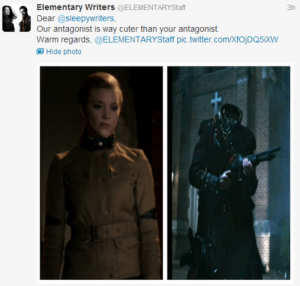 A screen shot from the Elementary Writers' Twitter.