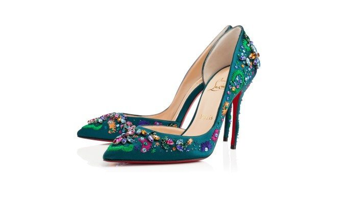 Photo of teal jewel encrusted fabulous Christian Louboutin heels