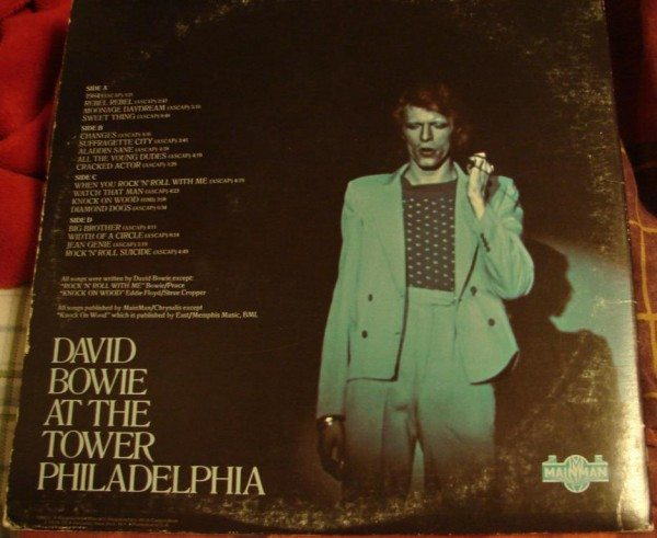 David Bowie- Live Philadelphia (back cover)
