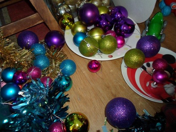 Tinsel and baubles.