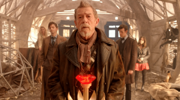 "A still image from ""Day of the Doctor."""
