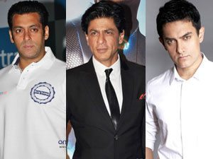 Image of three Bollywood actors