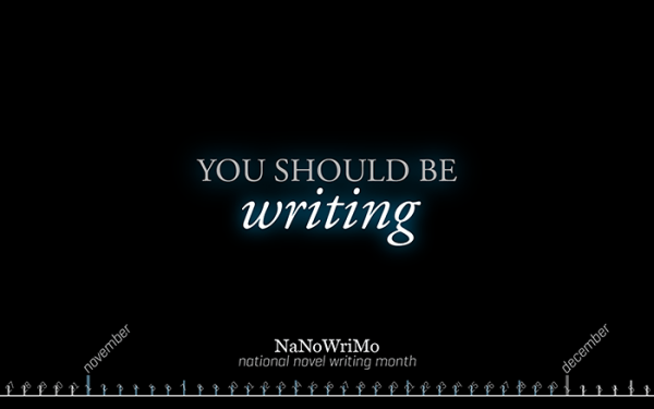 NaNoWriMo Wallpaper