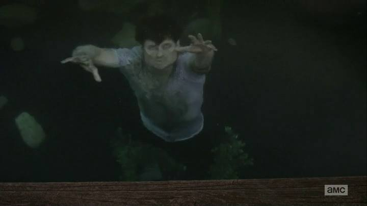 twd dead weight walker in the lake
