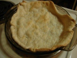 A picture of a pre-baked pie crust