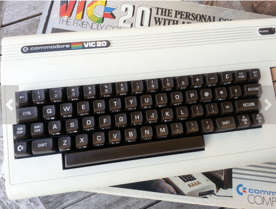 Etsy seller Pardon My Retro Vic20 1980s home computer