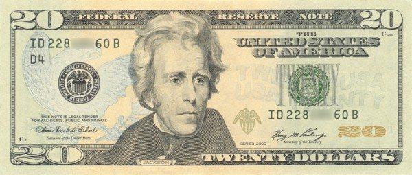 United States $20 Bill