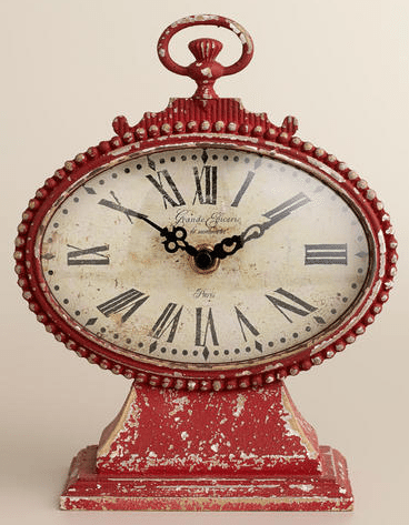World Market Red Dory Clock