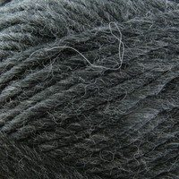 A close-up image of gray bulky yarn. Via yarn.com