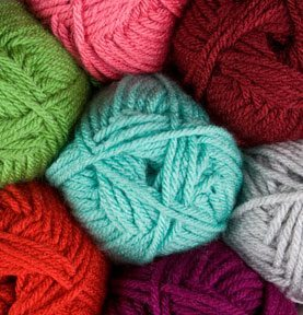 A picture of several skeins of yarn. Via knitpicks.com