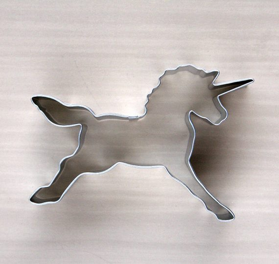 Photo of a unicorn shaped cookie cutter