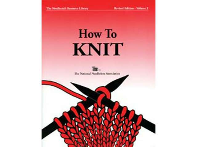 "The cover of TNNA ""How to Knit."""