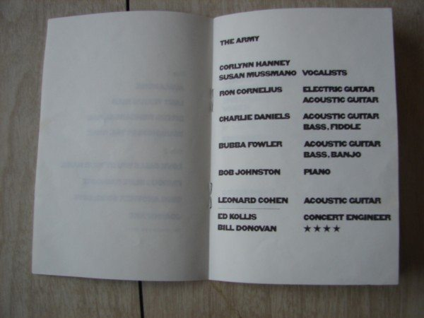 leonard cohen -songs of love and hate - booklet