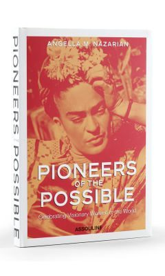 book cover with a reddish tinted photo of Frida Kahlo entitled Pioneers of the Possible