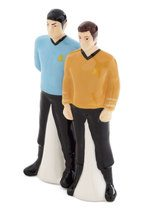 photo of ceramic Kirk and Spock salt and pepper shakers
