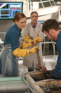 A still image from Bones episode 9.14.