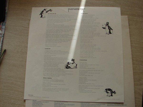 Lyric sheet/liner notes