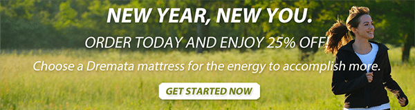 "Image of  a banner ad promising a ""new you"" if you buy a mattress."