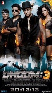 The movie poster for Dhoom 3