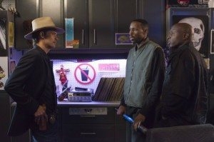 Raylan meets the Harris brothers.  (photo courtesy of FX)