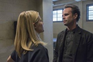Ava and Boyd, having a tension-filled chat  (Photo courtesy of FX)