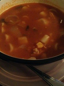 Hearty winter soup.