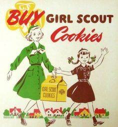 Vintage Girl Scout Cookie Ad