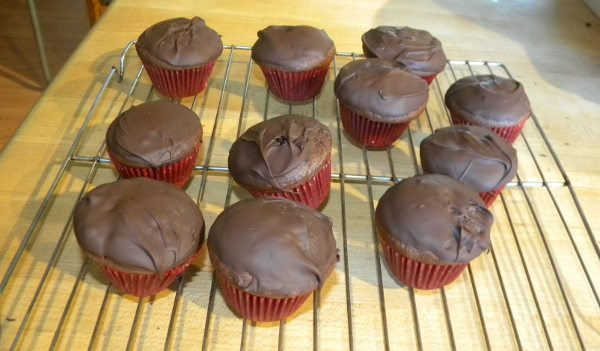 Picture of chocolate covered mini cupcakes