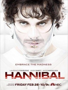 Hannibal Season 2 Poster showing Will in Hannibal's face mask