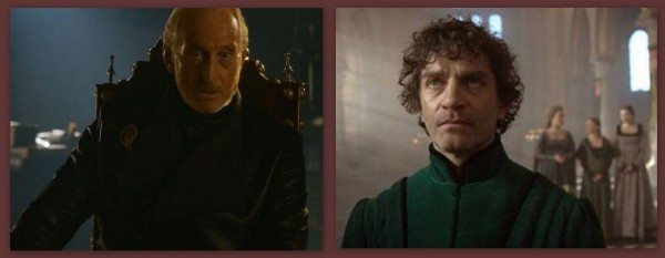 "A split image from ""Game of Thrones"" and ""The White Queen."""