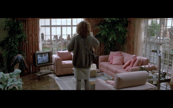 Screenshot from Ghostbusters of the interior of Dana's apartment.