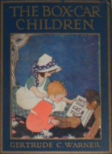 "Cover of the first book of the series, ""The Boxcar Children"""