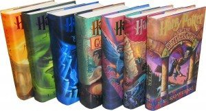 The seven volumes of the Harry Potter series